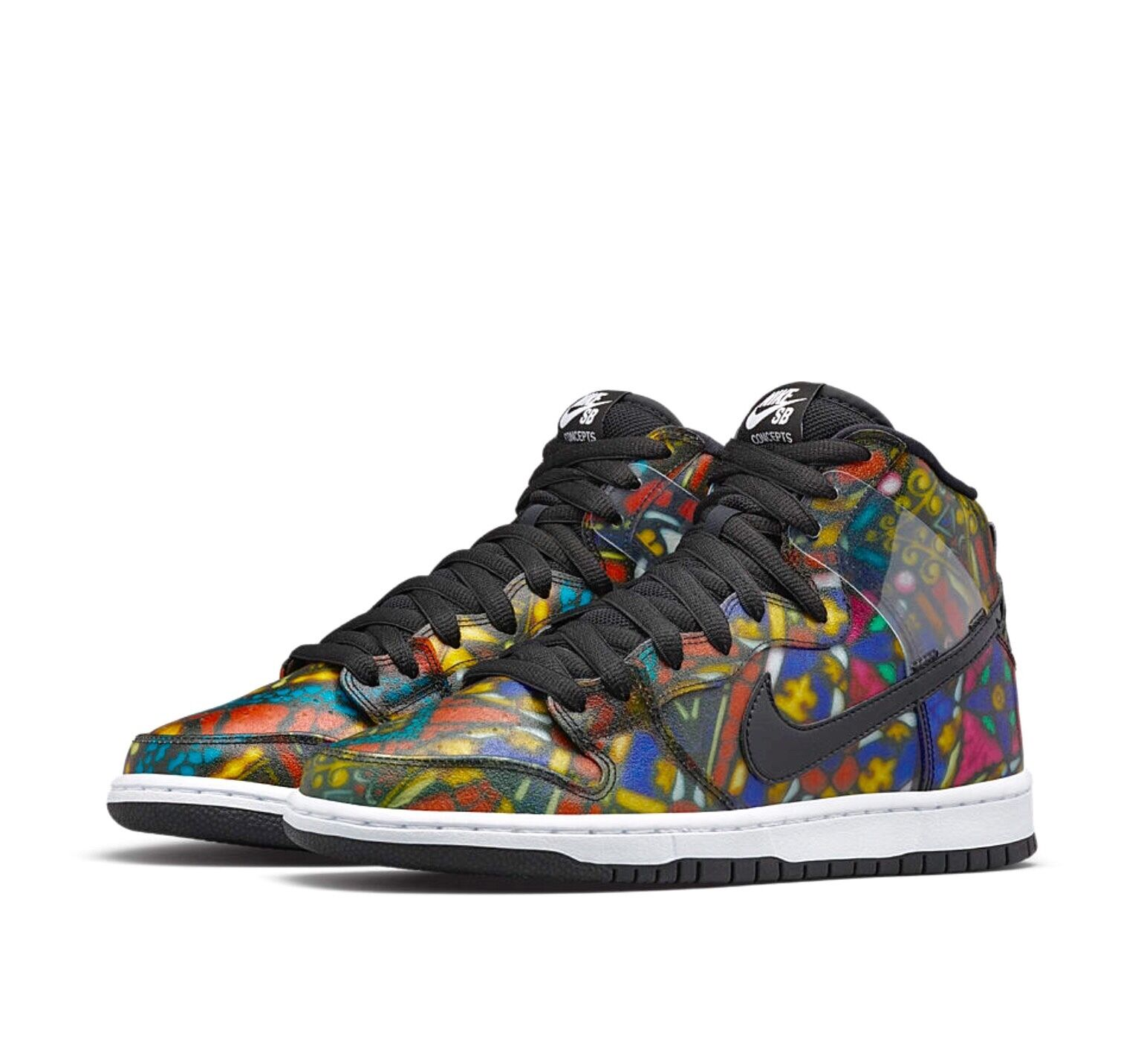 """CNCPTS x Nike SB Dunk High PRM """"Stained Glass"""" (size 12)"""