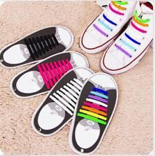 Easy Sneaker Shoelaces Elastic Shoe Laces No Tie Shoelaces Silicone 12 Pcs White