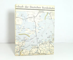 Outline Map Of Country to The Offical DB Railway Guide 1957 Nordwestdeutschland