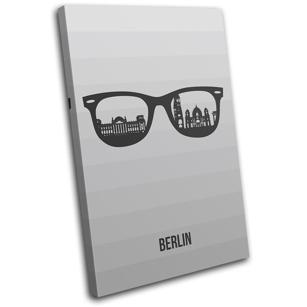Berlin Skyline Sunglasses City SINGLE LONA pared impresion arte Foto impresion pared 8604c3