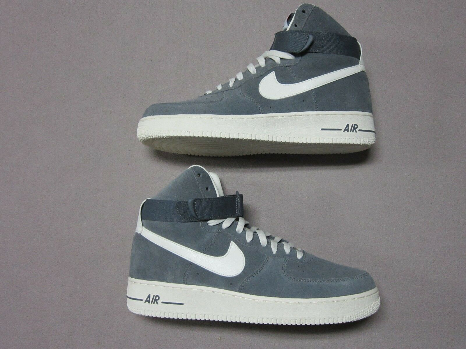 NIKE RARE AIR FORCE 1 '82 WOLF GREY & WHITE SNEAKERS SHOES SIZE 11