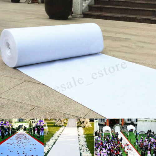 Large White Carpet Wedding Aisle Runner Floor Marriage Stage Party Rug Decor