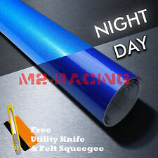 "*""48x360"" Reflective Blue DIY Vinyl Car Wrap Sticker Decal Graphic Adhesive Film"