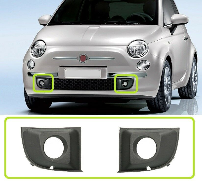 Genuine OE Fiat 500 Lower Front Bumper Grille 735455043