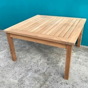 Solid Teak Wood Large Square Coffee Table Garden Outdoor Furniture | EBay