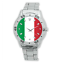 Italy-Flag-International-Football-Watch-Stainless-Steel-Bracelet-Strap-Men-039-s thumbnail 1