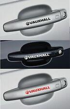 Para Opel - 4 x Mango de Puerta Coche Decal Sticker CORSA VECTRA ASTRA 100mm