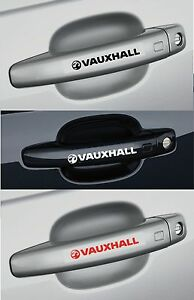 For VAUXHALL - 4 x Door Handle Car Decal Stickers Corsa Vectra Astra ...