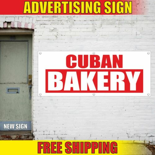 CUBAN BAKERY Advertising Banner Vinyl Mesh Decal Sign PASTRY CAKES SHOP CARNIVAL