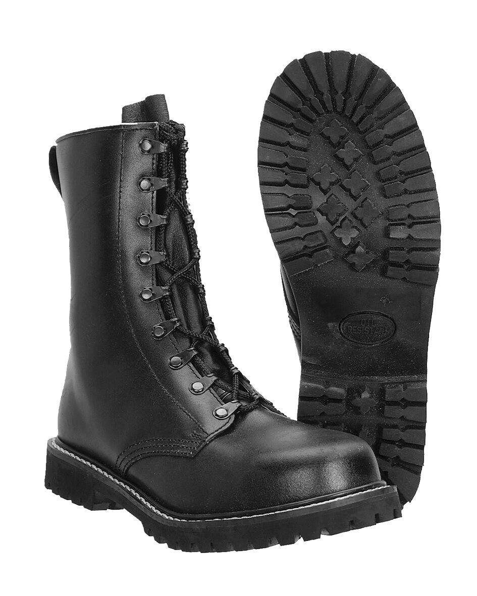 Descuento de la marca Miltec combate párra ejército alemán combate botas botas de cuero negro 37-50