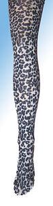 Black-White-Leopard-Print-Girls-Tights-7-8-9-10-11-12-New-fancy-dress-opaque