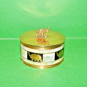 Exceptional Mother Of Pearl mop, Shell & Brass Box Treasures,trinkets,jewelry Attractive Fashion