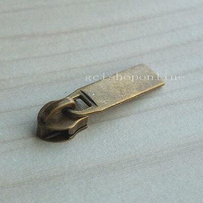 10 25 100 Slider Pull #3 Molded Zipper Puller 4 Repair Replace Kit Stop ZP29#3