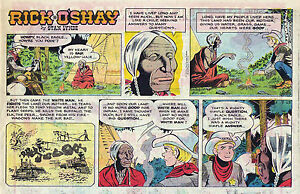 Rick-O-039-Shay-by-Stan-Lynde-half-tab-color-Sunday-comic-page-July-19-1970