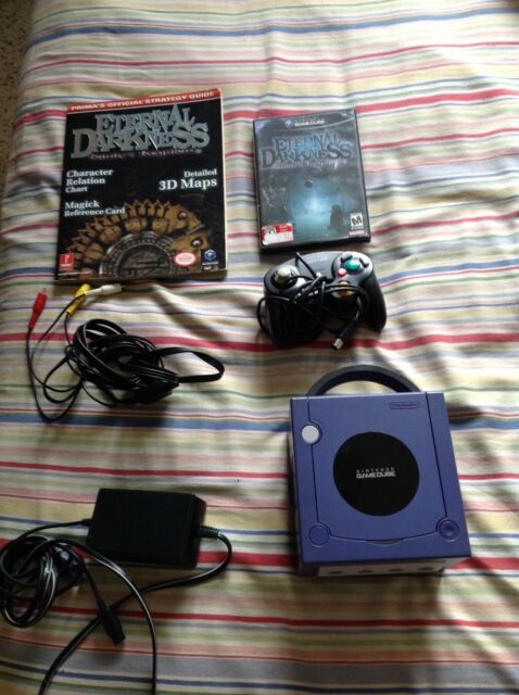 Nintendo GameCube with Eternal Darkness and game guide Indigo Console (NTSC-J)