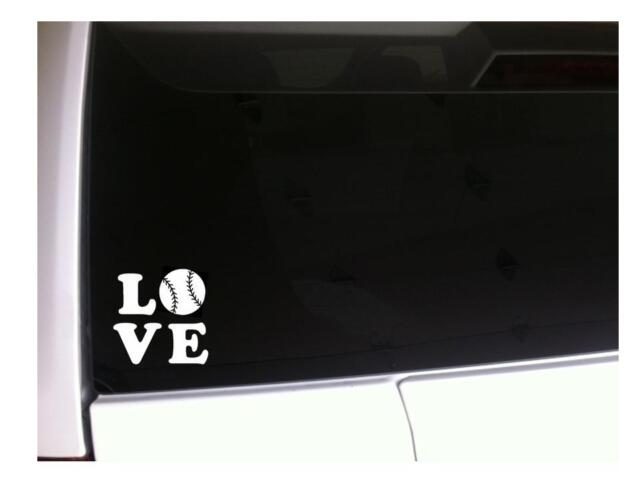 "Love Baseball Car Decal Vinyl Sticker 6/"" *A5 ball athlete mom sports player love"