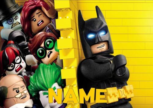 LEGO BATMAN PERSONALISED PLACE MAT DINNER MAT TABLE MAT