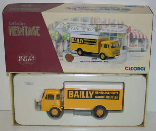 CORGI 1 50 SCALE COLLECTION HERITAGE 72908 72908 72908 SIMCA CARGO FOURGON - BAILLY e49717