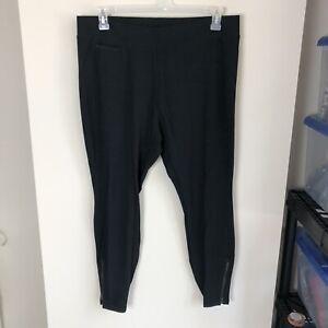 J-Jill-Women-039-s-Plus-Size-1X-Solid-Black-Stretch-Skinny-Pants-Ankle-Zipper