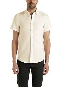 f9450cebfa Dettagli su Camicia da uomo bianca North Sails cotone lino manica corta  casual