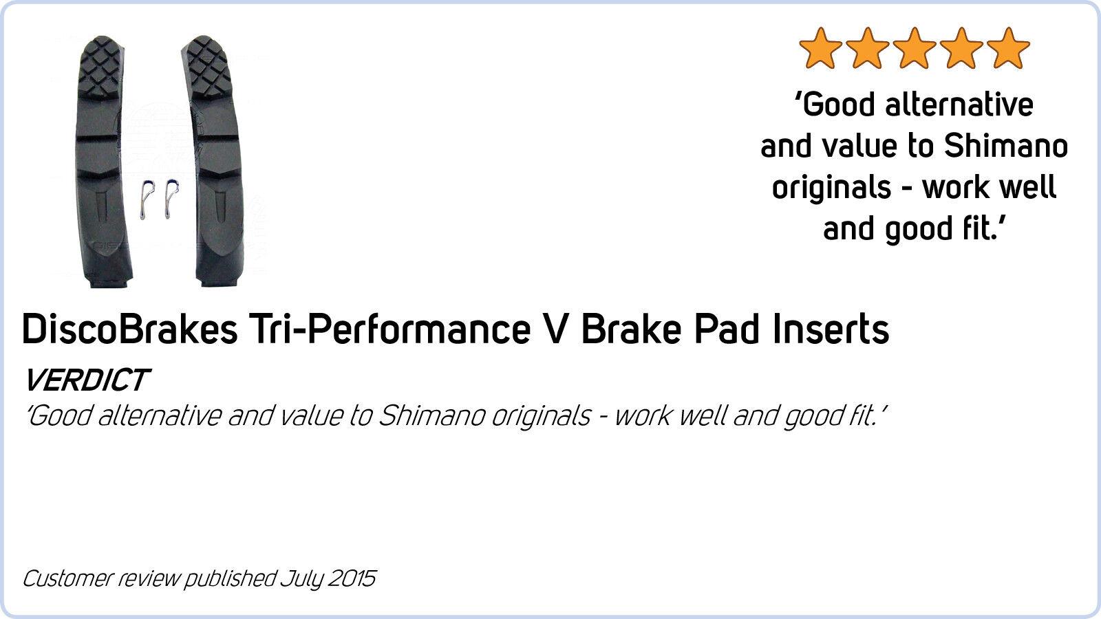 4 paires de DiscoBrakes V plaquettes de de de frein pour Shimano Sram Avid tektro DiaCompe 60mm 1ac391