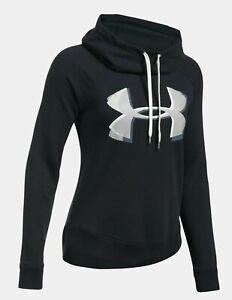 43247177 Under Armour Women's Black UA Fashion Favorite Explosion Logo Fleece ...