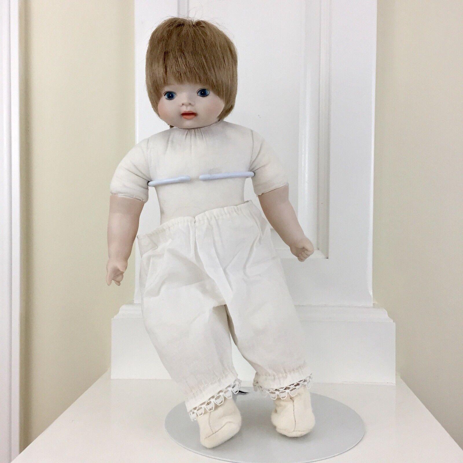 Porcelain Boy Doll Collection De Poupees Sankyo Musical Wind Up J. Brahams