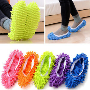 2Pcs-Mop-Slippers-Lazy-Floor-Foot-Socks-Shoes-Quick-Polishing-Cleaning-Dust-New