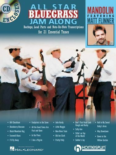 All Star Bluegrass Jam Along Mandolin Learn to Play Music Songs Book & CD