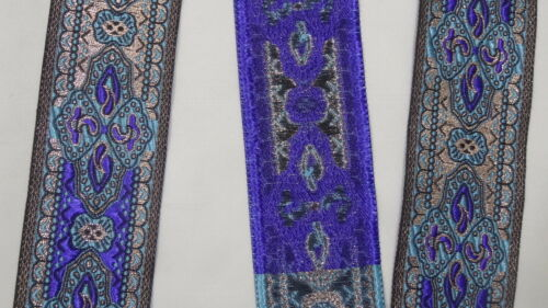 "3.25 Yd Jacquard Trim 1.90/"" wide Woven Border Sew Embroidered Ribbon Lace T805"