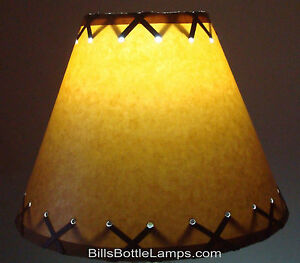 Rustic cabin cottage table light lamp shade clip on bulb 9 inch x image is loading rustic cabin cottage table light lamp shade 034 aloadofball