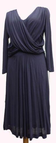 French Connection Great Plains Jersey Draped Dress Plum UK 8-16