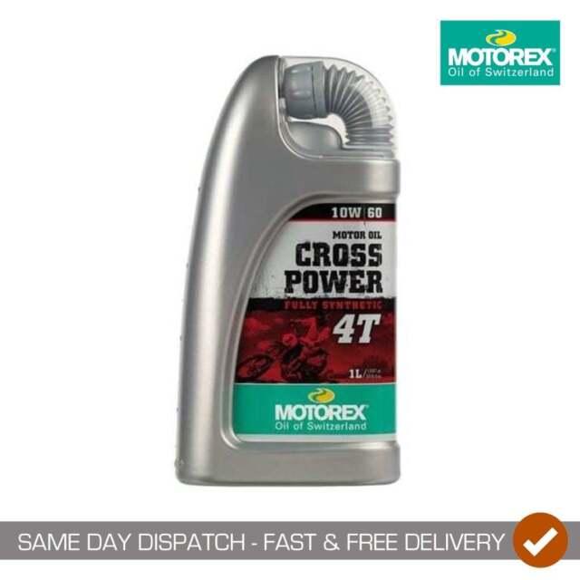 Motorex Crosspower Synthetic Motocross Motor Bike 4 Stroke Oil - 10/60 - 1 Litre