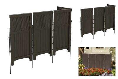 Outdoor Privacy Screen Vinyl 4 Panel Garden Folding Wall