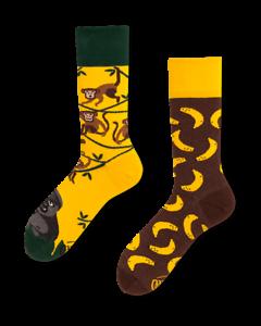 Mornings lustige Strümpfe 2 verschiedene unterschiedlich Socken Affe Banannen