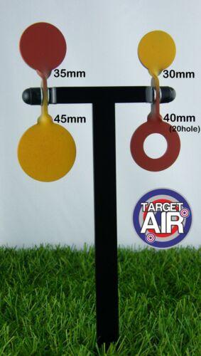 4 objectifs métal sur 2 double acier spinners de ball-trap plinking pk16