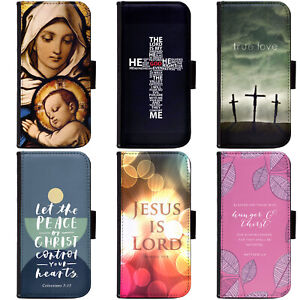 PIN-1-JESUS-CHRISTIAN-CROSS-BIBLE-VERSE-Phone-Wallet-Flip-Case-Cover-for-Huawei