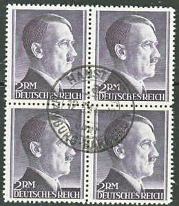 Stamp-Germany-Mi-800-Block-Sc-525-1941-WWII-3rd-Reich-Hitler-CTO-Used