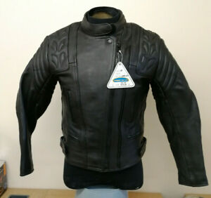 Dannisport-Cougar-Ladies-Leather-Motorcycle-Motorbike-Jacket-Size-10
