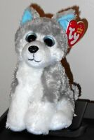 Ty Beanie Baby Sledder The Husky Dog (big Eyes Version) Mint With Mint Tags