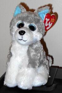 e95f8e0307f Ty Beanie Baby ~ SLEDDER the Husky Dog (Big Eyes Version)(6 Inch ...