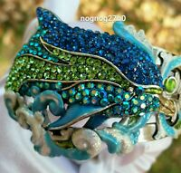 Kirks Folly Dolphin Cuff Princess Of The Seas Bracelet Size Small