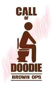 Call-of-Doodie-Brown-Ops-Toilet-Funny-Humor-Vinyl-Decal-Sticker-Window-Glass