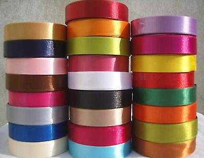 Ruban Satin taille 6,10,12,15,20,25,30,38mm 22 Mètres Chaque BUY 3 /& GET 4th