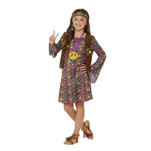 Ragazze Anni /'60 70 Hippie Costume Bambini Hippy Decades 1960s