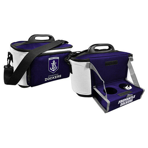 Freo Fremantle Dockers AFL Lunch Cooler Bag With Drink Tray Table Insulated Work