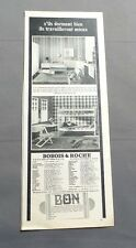 PUB PUBLICITE ANCIENNE ADVERT CLIPPING 040617 MEUBLES LAQUE BLANC BOBOIS & ROCHE