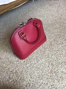 Louis Vuitton Alma Bb Epi Leather Fuchsia Pink With Original Receipt 54f01e8ba541d