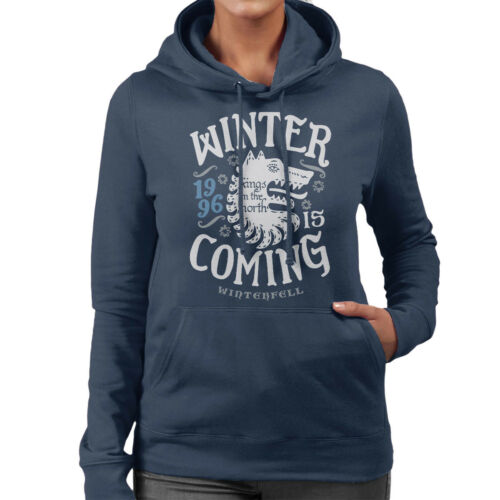 Winter Is Coming Winterfell Stark Game Of Thrones Women/'s Hooded Sweatshirt