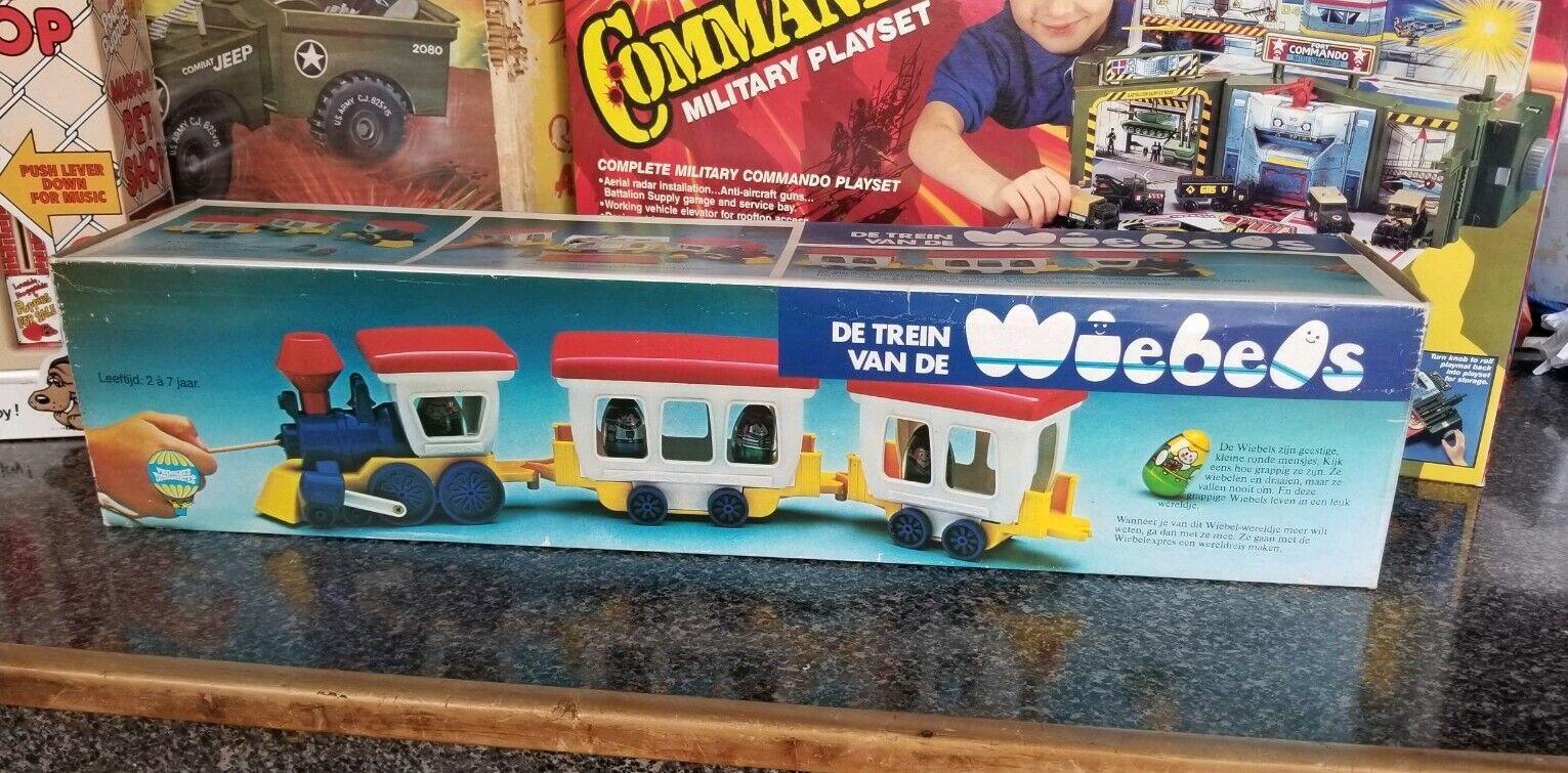 Vintage Weebles Train Hasbro Dutch Issue MiB Sealed Bag Insert De Train Van 70s